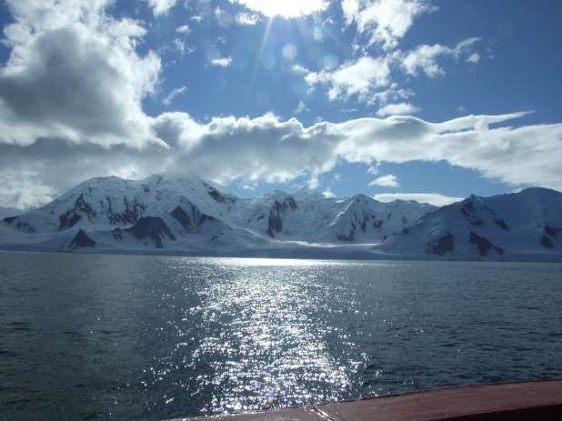 Ocean off the Antarctic coast