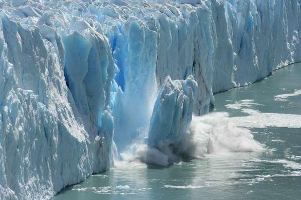 Calving ice shelf in Antarctica