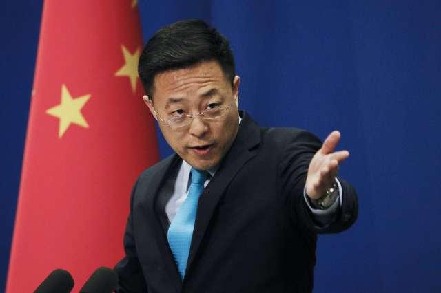 Zhao Lijian at a daily press briefing