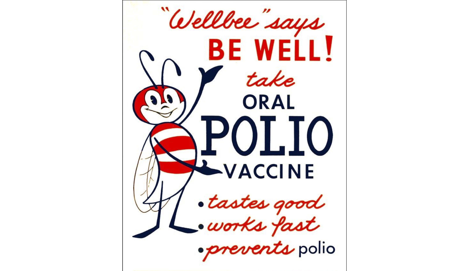 Cartel de concienciación para la vacuna de la poliomielitis.https://commons.wikimedia.org/wiki/File:Polio_vaccine_poster.jpg