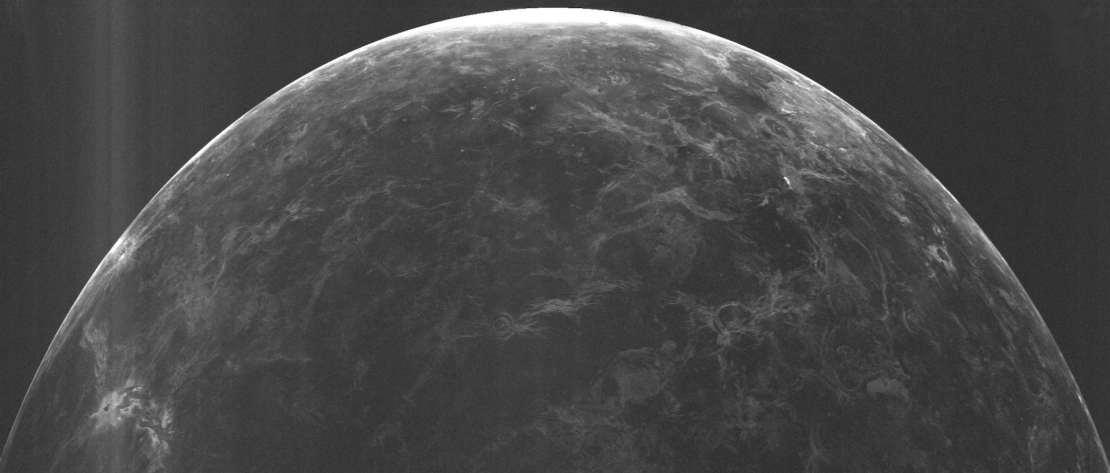 Black and white image of venus