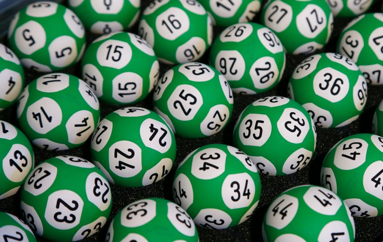 A photo of a pile of lottery balls.