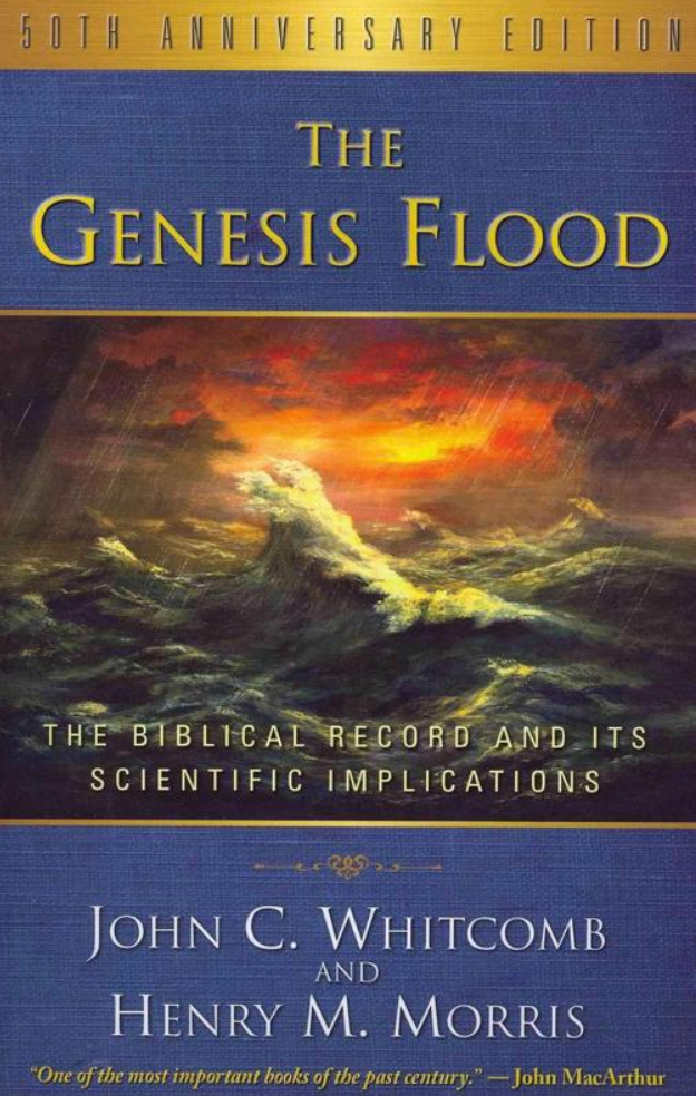 Book cover of The Genesis Flood, The Biblical Flood and its Scientific Implications.