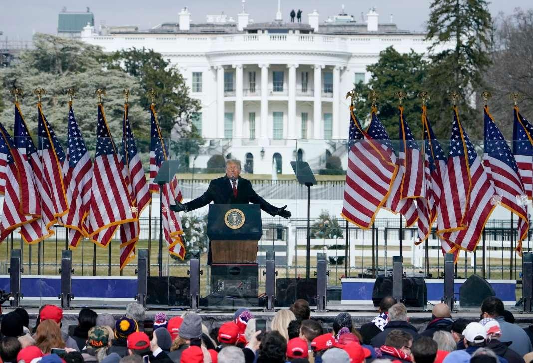 Donald Trump speaks at his Jan. 6, 2021 rally