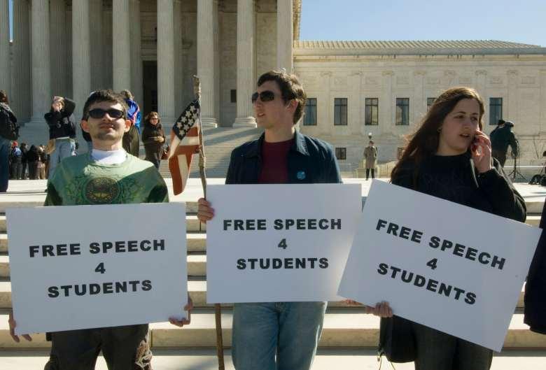 Students protest outside U.S. Supreme Court