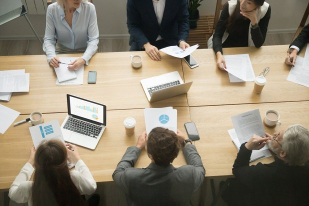 Executives around the boardroom table