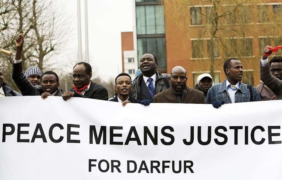 Manifestation de personnes originaires du Darfour à La Haye