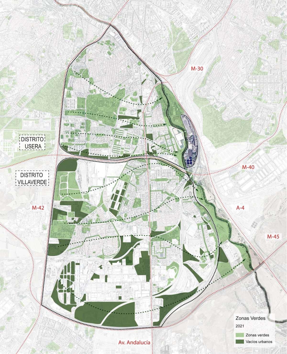 Mapa de zonas verdes