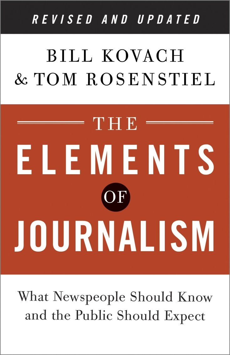 A picture of the book The Elements of Journalism