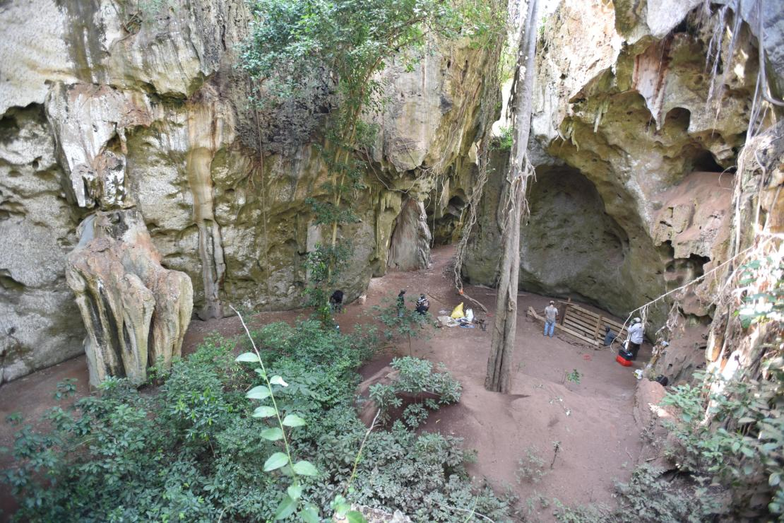 Image of the cave site.