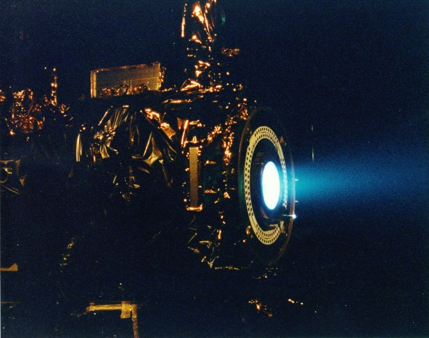 Image of a Nasa ion thruster.