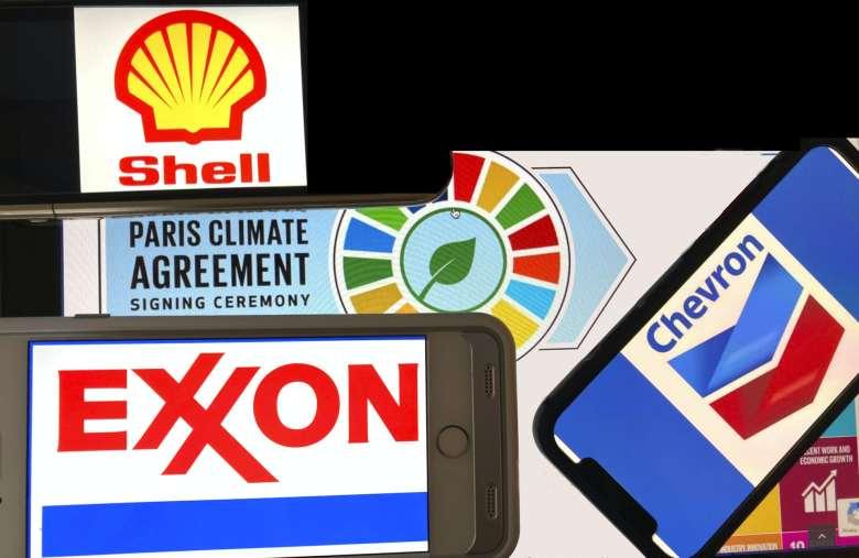 Shell, Chevron and Exxon logos