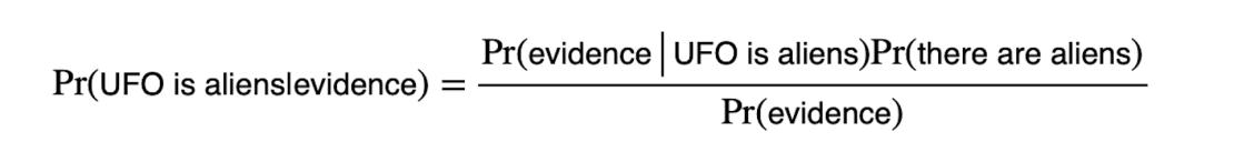 Image of the Bayesian formula.