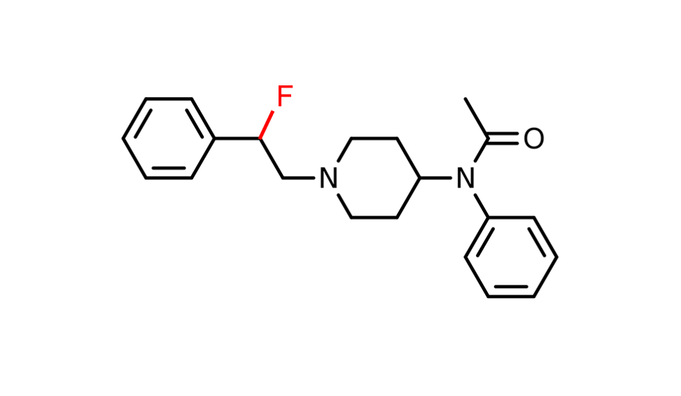 Chemical structure of fluorinated fentanyl