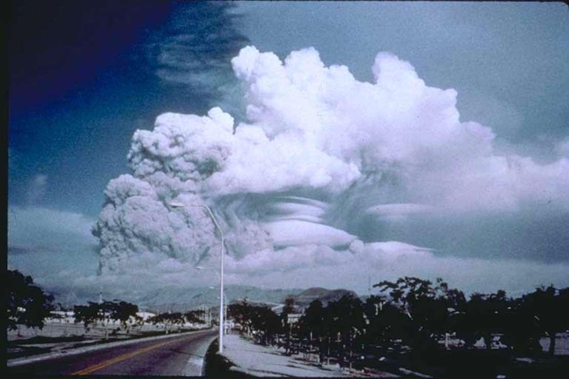 Large volcanic cloud