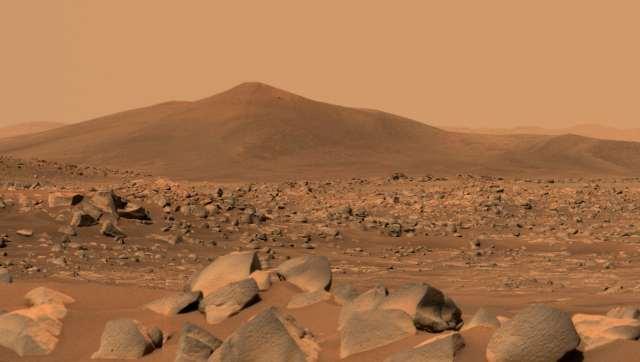 Red Martian landscape.