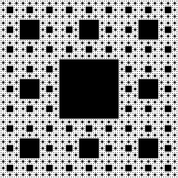 A repeating square fractal