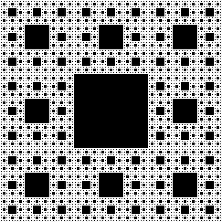 Un fractal cuadrado que se repite
