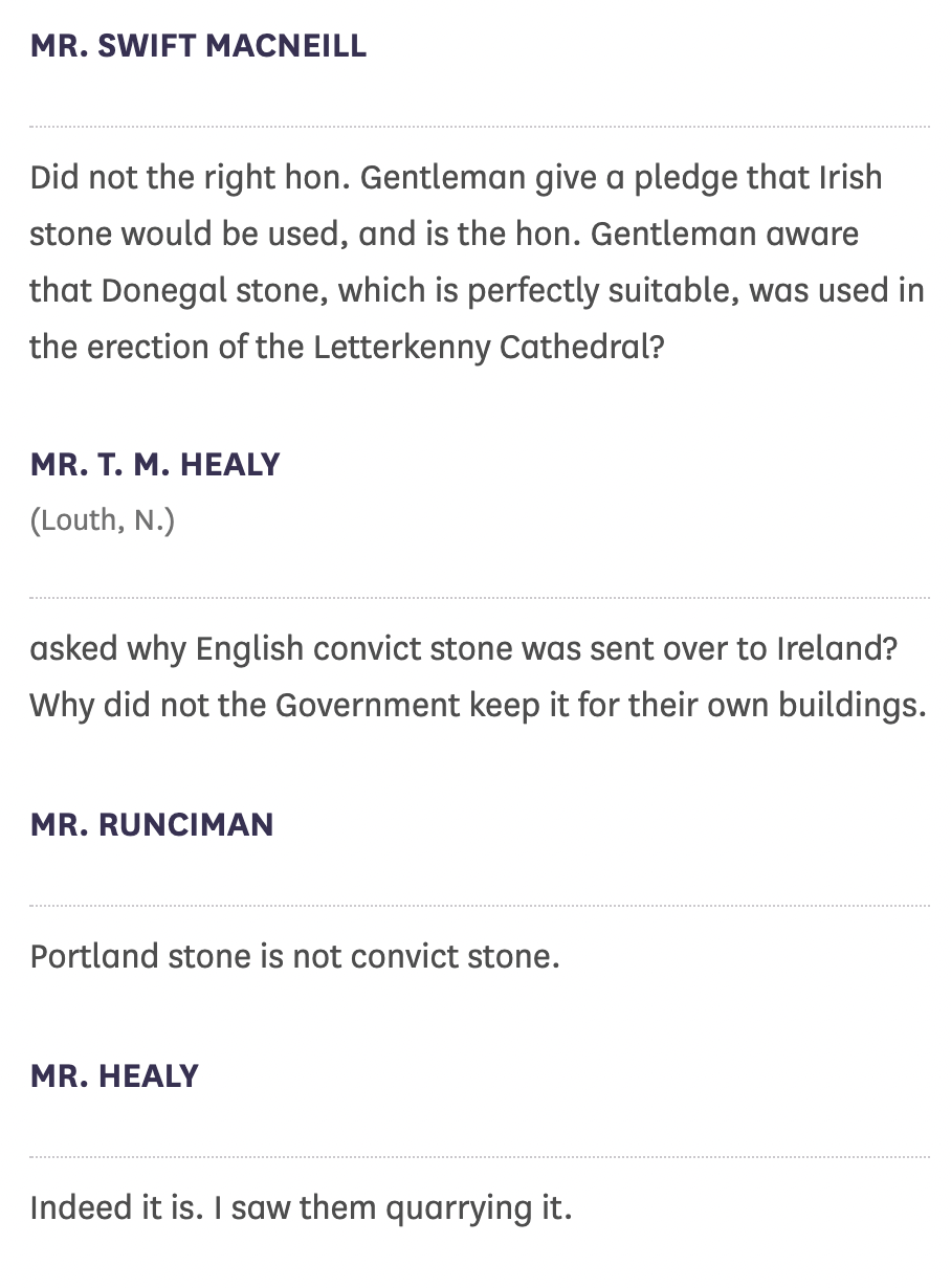 Text of a debate over convict stone