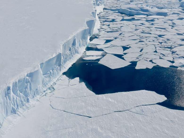 Borde del manto de hielo de la Antártida Occidental