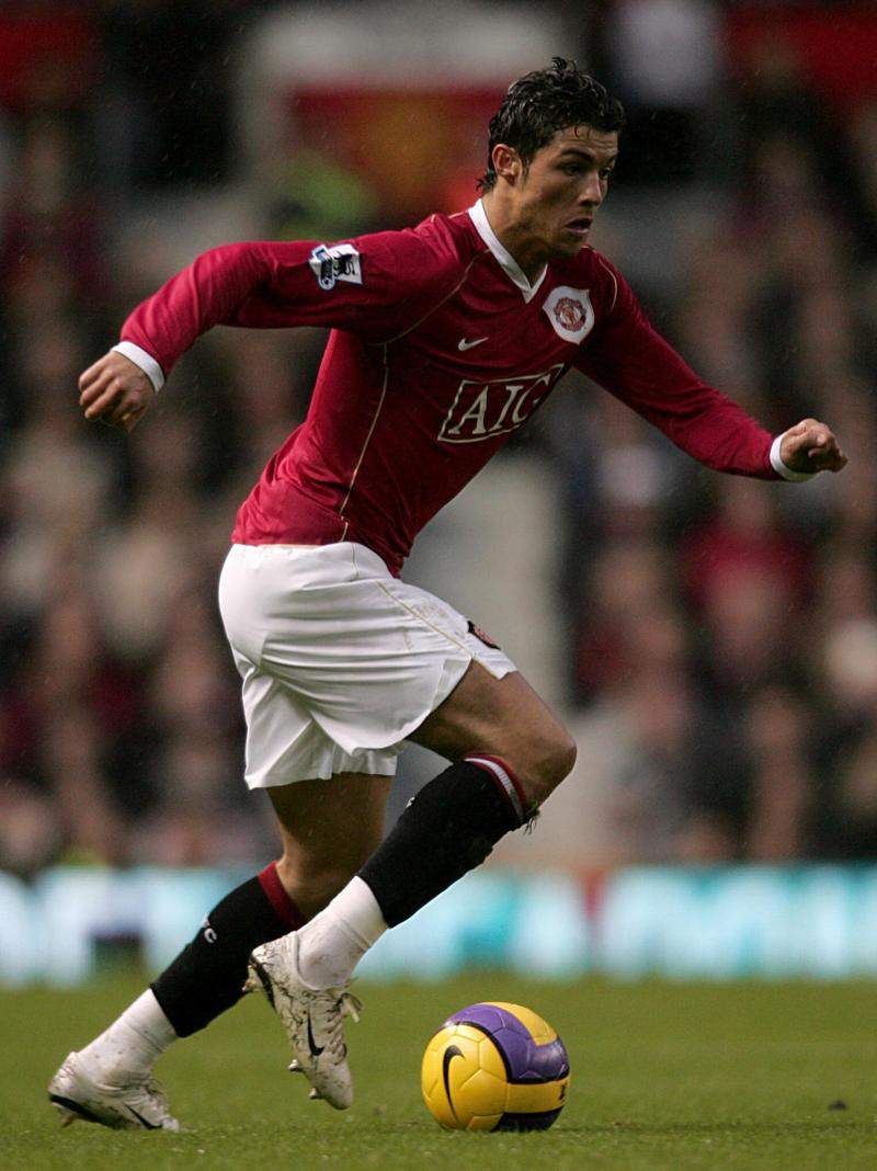 2006 photo of Cristiano Ronaldo playing in a Manchester United game