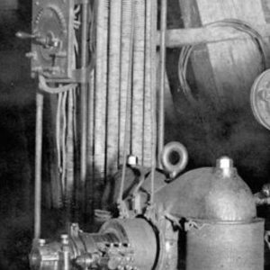 Electric pump at the 800-foot level of the Gover Mine.
