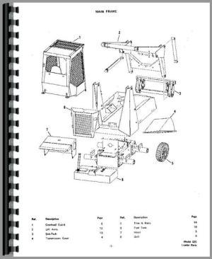Bobcat 825 Skid Steer Loader Parts Manual