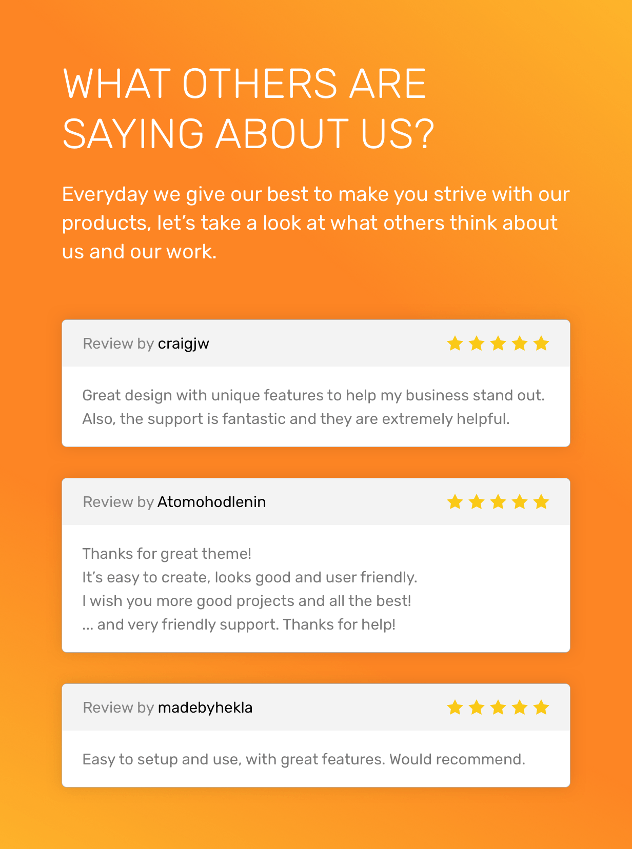 What others are saying about us?