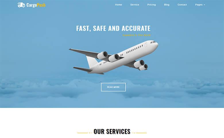 Cargopush Responsive Logistics Company Website Template