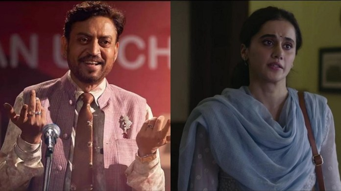 66th Filmfare Awards Winners List: Irrfan for Angrezi Medium and Taapsee  Pannu for Thappad