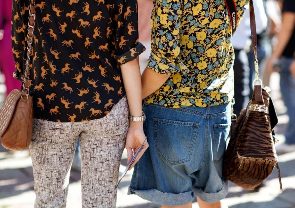 On the Street….All About Print Blouses, Milan