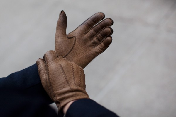 The Sartorialist Unconventional Gift Guide….. #4 Pecari Gloves from Maison Fabre