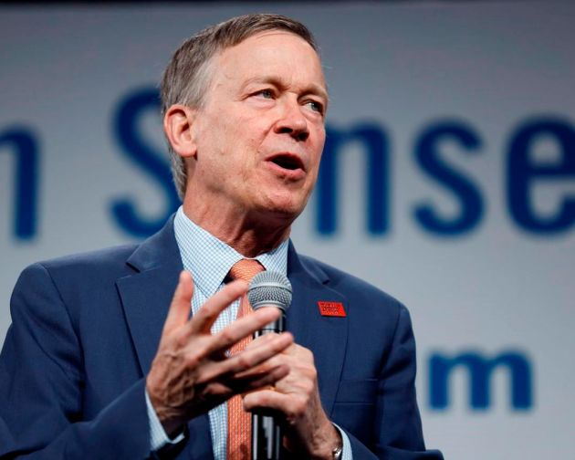 Andrew Romanoff In this Aug. 10, 2019, file photo, Democratic presidential candidate former Colorado Gov. John Hickenlooper speaks in Des Moines, Iowa. Democratic U.S. Senate candidate John Hickenlooper didn't appear at a Colorado Independent Ethics Commission hearing Thursday, June 4, 2020, defying a commission subpoena and a court order that he participate as it considers a Republican complaint that trips he took on private planes while Colorado's governor violated the state's gift ban.
