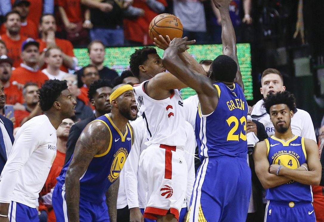 lowry shot - Warriors take — and make — their best shots to edge Raptors and extend series
