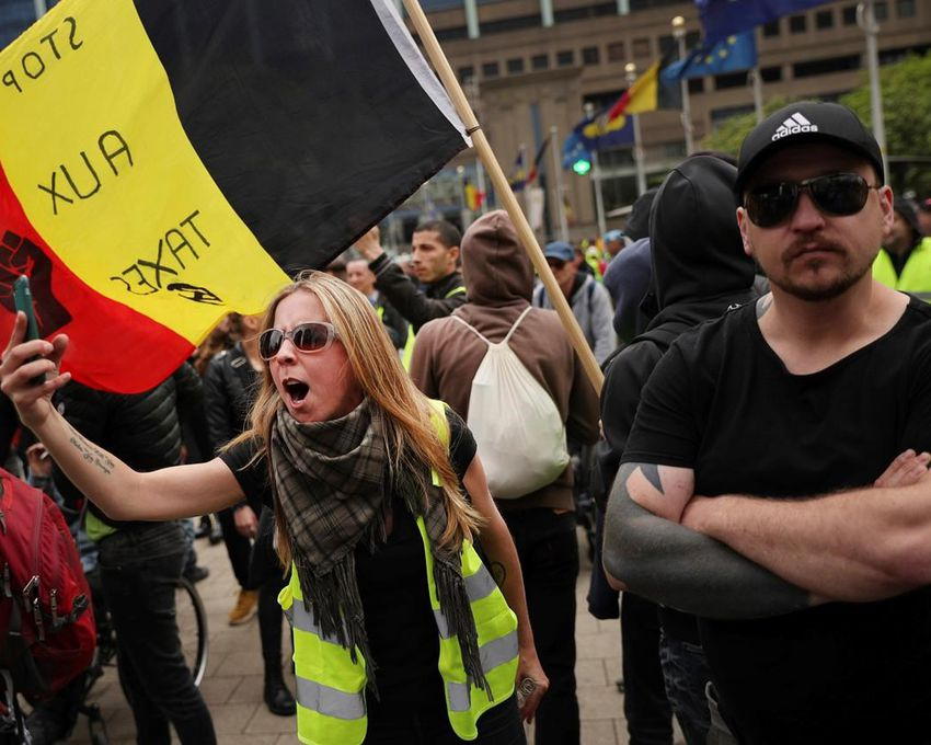 Image Result For Yellow Vest Protest In Brussels Turns Violent Detained