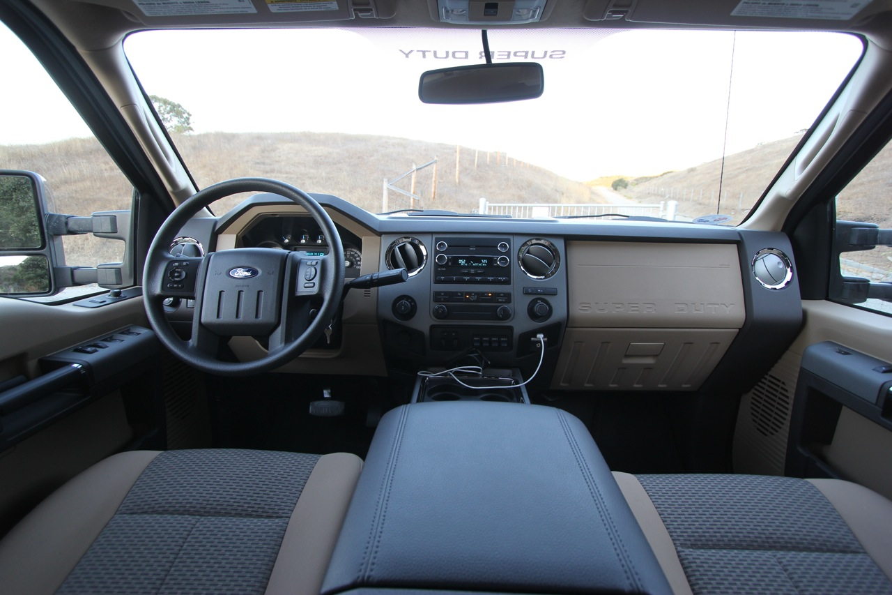 When you step inside the f 250 you realize that while ford is spending big bucks improving the quality and feel of their passenger car interiors