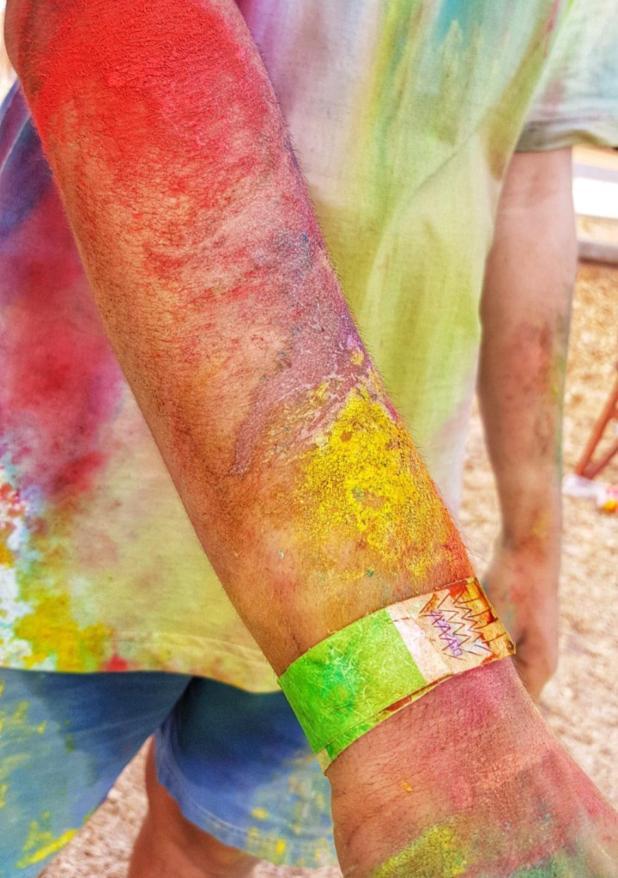 Runners came out of Hopetoun's Colour Run a rainbow of colours. Photo: Karrina Smallman