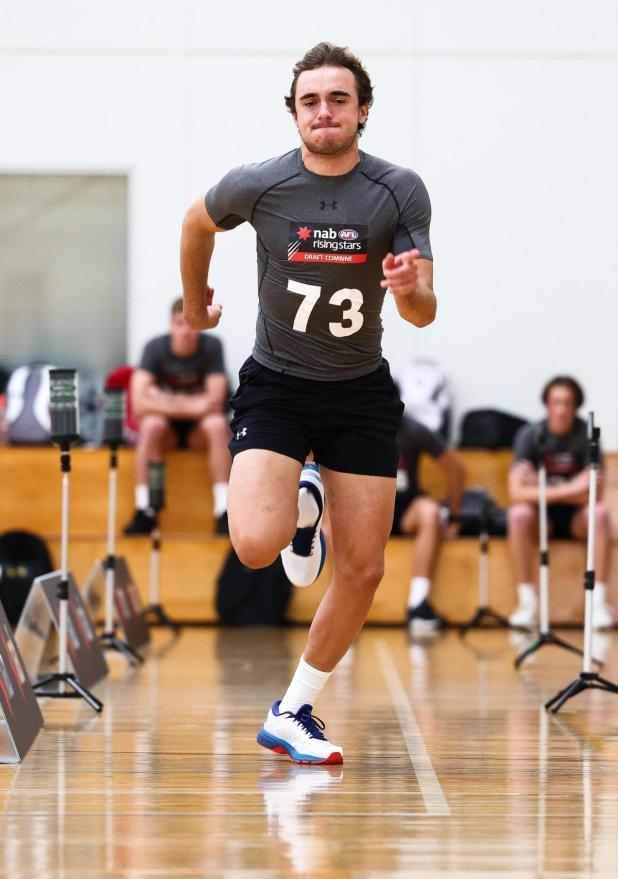 Luke Edwards at the draft combine.