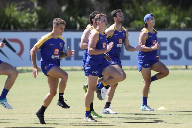 New recruits Zac Langdon and Alex Witherden (left) are pushing their claims for the Eagles' best 22.