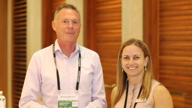 CSIRO agriculture deputy Michael Robertson and CSIRO future protein initiative lead Michelle Colgraves.