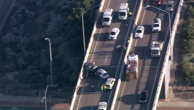The crash forced the closure of Leach Highway for five hours as emergency services worked to clear the scene.
