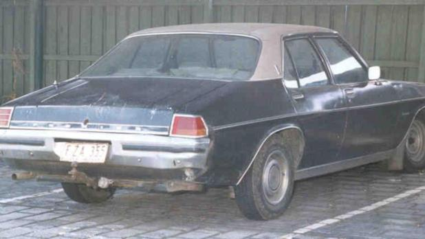 Nick Falos' other car, a Holden, was still parked at his home address. Supplied: Victoria Police