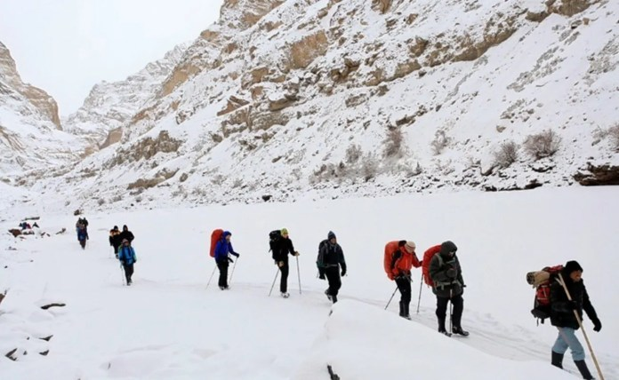 Image result for image of chadar trek