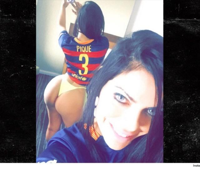 Soccer Star Pique Gets Hot Ass Message From Miss Bumbum