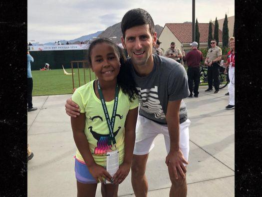 Mike Tyson's Daughter Plays Tennis with Novak Djokovic ...