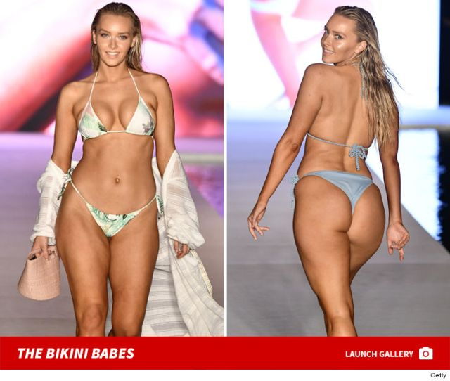 Rob Gronkowskis Gf Hit The Runway At Miami Swim Week In A Super Small Bikini And The Pics Are Awesome