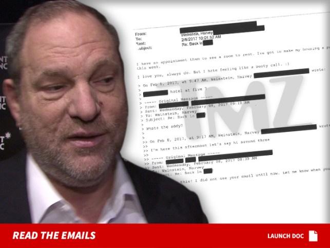 Harvey Weinstein's Alleged Victim Professed Love for Him After Alleged Rape
