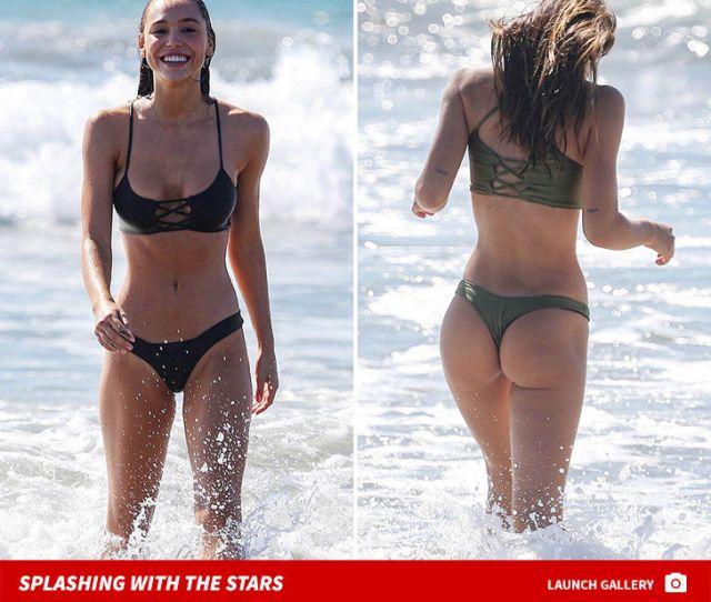 Alexis Ren Tangos With A Thong In Sexy Beach Bikini Sesh