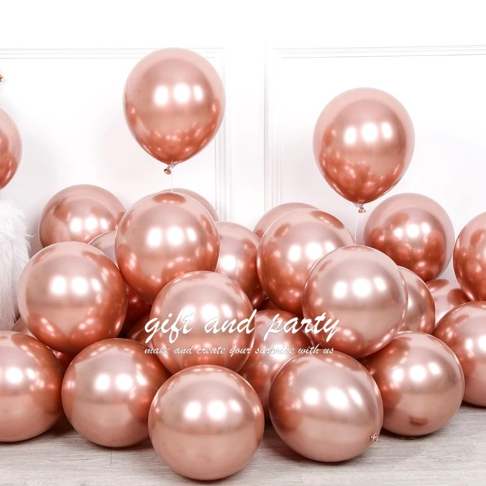 Jual Balon Latex Chrome Rose Gold Balon Metalik Chrome Ballon Chrome Jakarta Utara Gift And Party Tokopedia