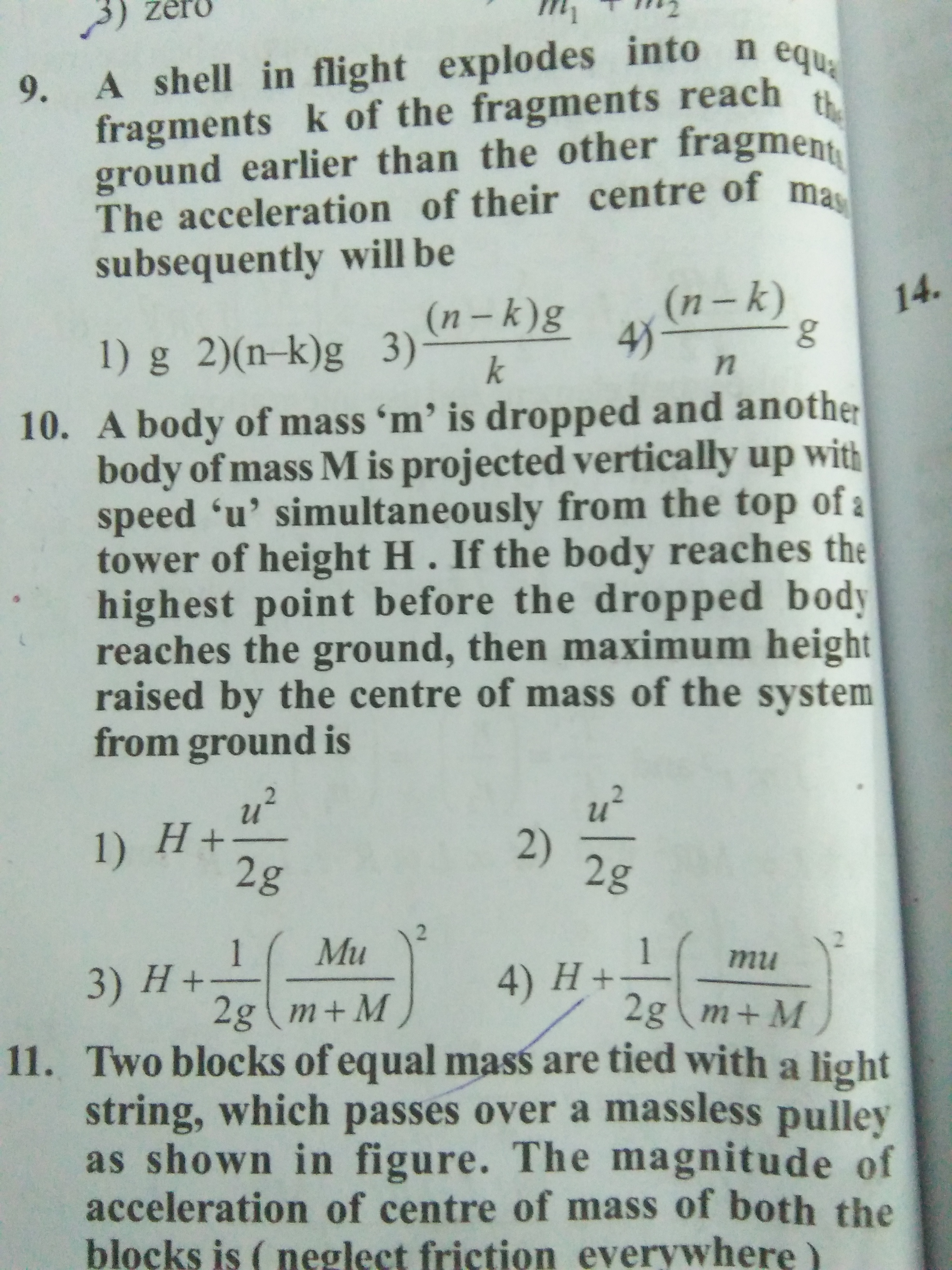 Projectile Motion Questions And Answers